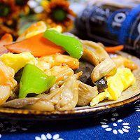 虾仁平菇炒时蔬 | 火锅剩余食材炒盘菜的做法图解9