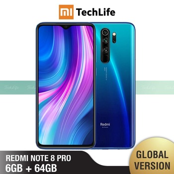 Global Version Xiaomi Redmi Note 8 Pro 64GB ROM 6GB RAM (Brand New / Sealed) note pro, note8pro, note8 Smartphone Mobile - sale item Mobile Phones