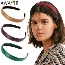 Женский широкий обруч для волос awaytr из искусственной кожи