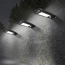 Auoyo 100 / 210LED Solar Safety Wall Light Outdoor Lighting Motion Sensor COB IP65 Waterproof Street Light Garden Street Light