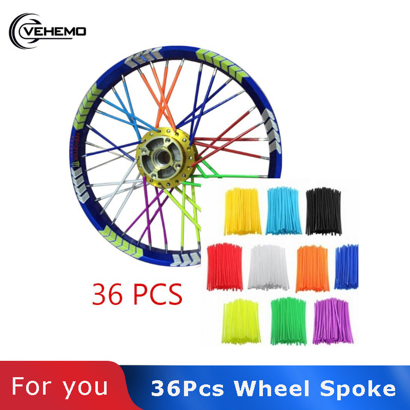 Universal Motorcycle Wheel spoke skins Dirt Bike <font><b>Enduro</b></font> Off Road Rim For honda crf 450 CR CRF XR XL 85 125 <font><b>250</b></font> 500 KTM KAWASAKI image