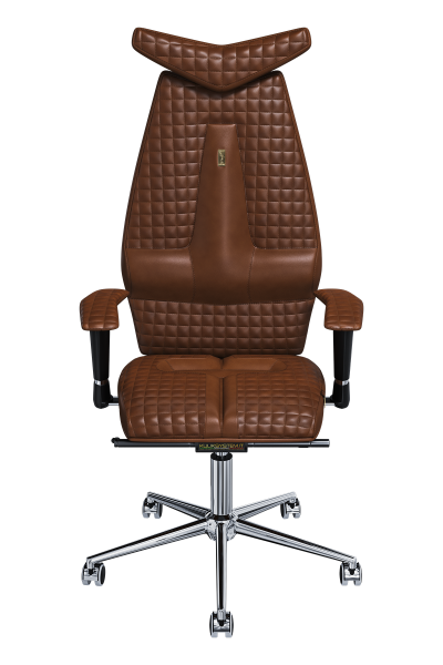 Office Chair KULIK SYSTEM JET Brown Computer Chair Relief And Comfort For The Back 5 Zones Control Spine