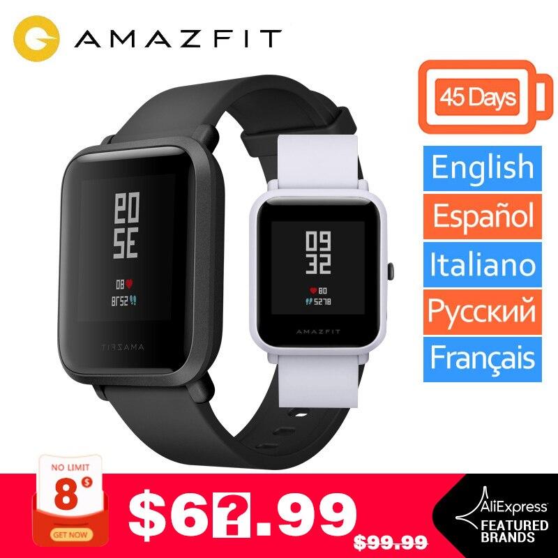 Global Version Amazfit bip Smart Watch Xiaomi Huami Amazfit Bip Lift Miband Pace Lite GPS Gloness