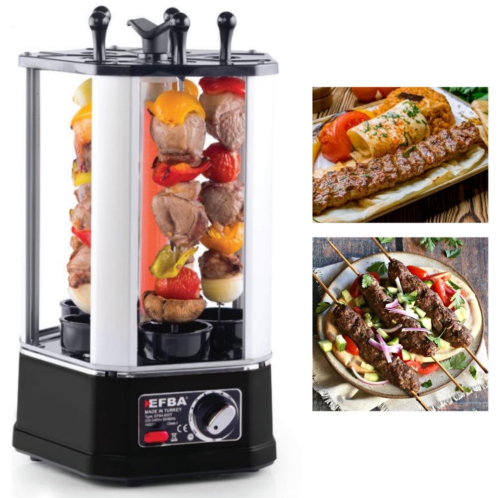 Turkish Kebab Machine 1400 Watt Electrical Shaslik Shawarma Machine Bbq Grill Meat Skewer Machine Doner Barbecue Made In Turkey