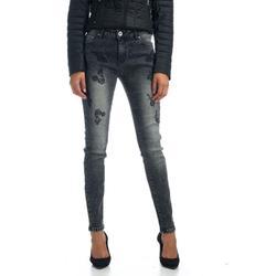 KOROSHI pantalón largo REGULAR sarga algodón ELAST Mujer