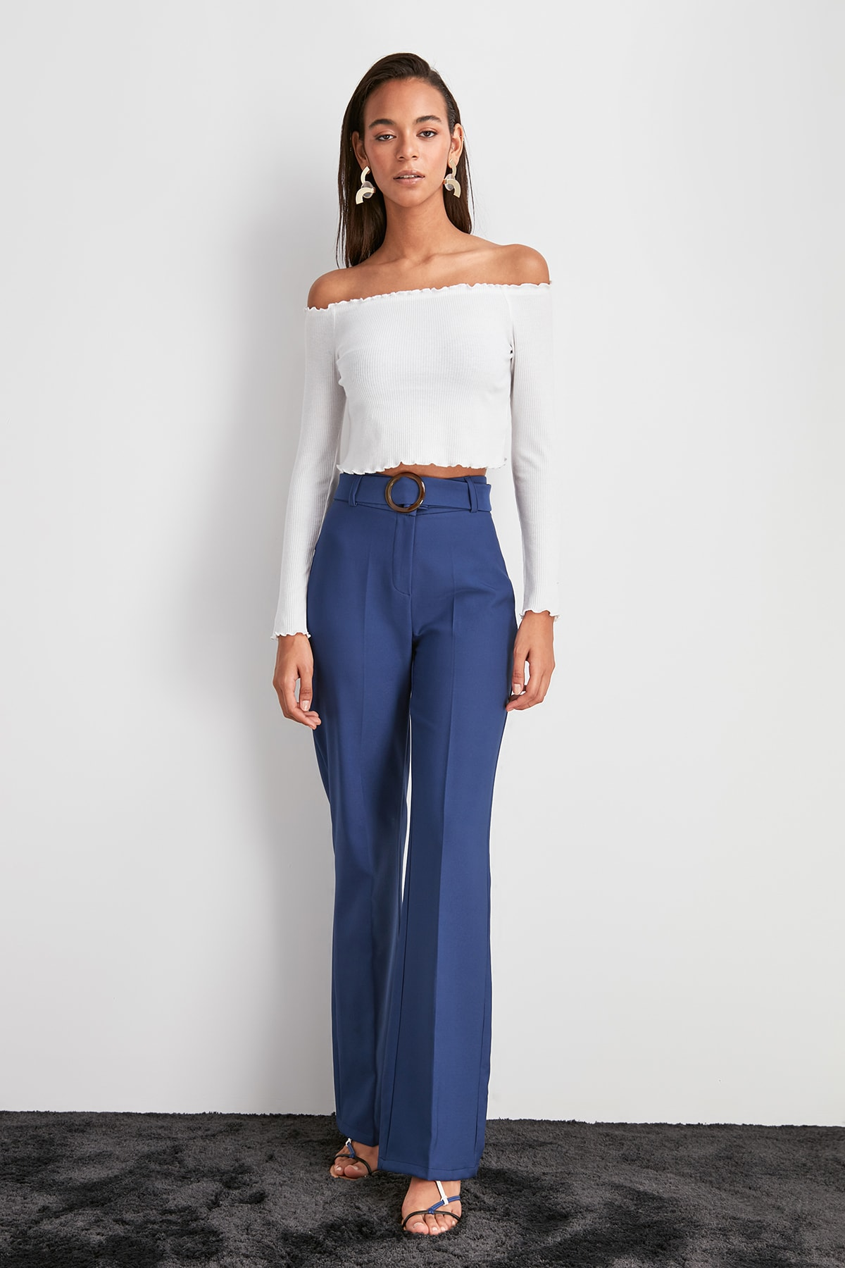 Trendyol Belt Detail Pants TWOAW20PL0599
