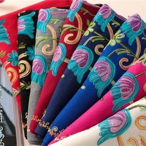 Женский шарф с вышивкой, Модный женский длинный мягкий шарф-шаль в цветочек, шарфы echarpe hiver femme bufandas invierno mujer