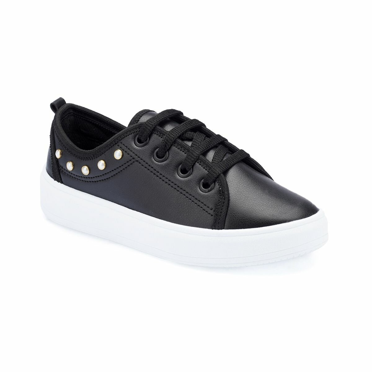 FLO 82.510825.F Black Female Child Sneaker Shoes Polaris
