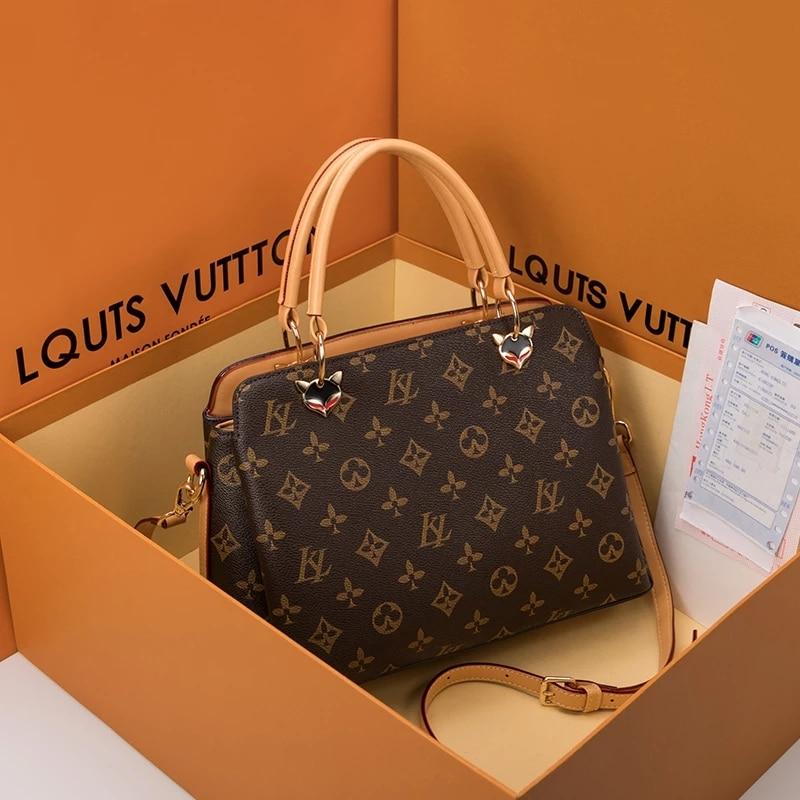 Genuine Leather Bags for Women 2020 Handbags Fashion All-match One-shoulder Diagonal Bags ladies classic purses sac femme bolsa