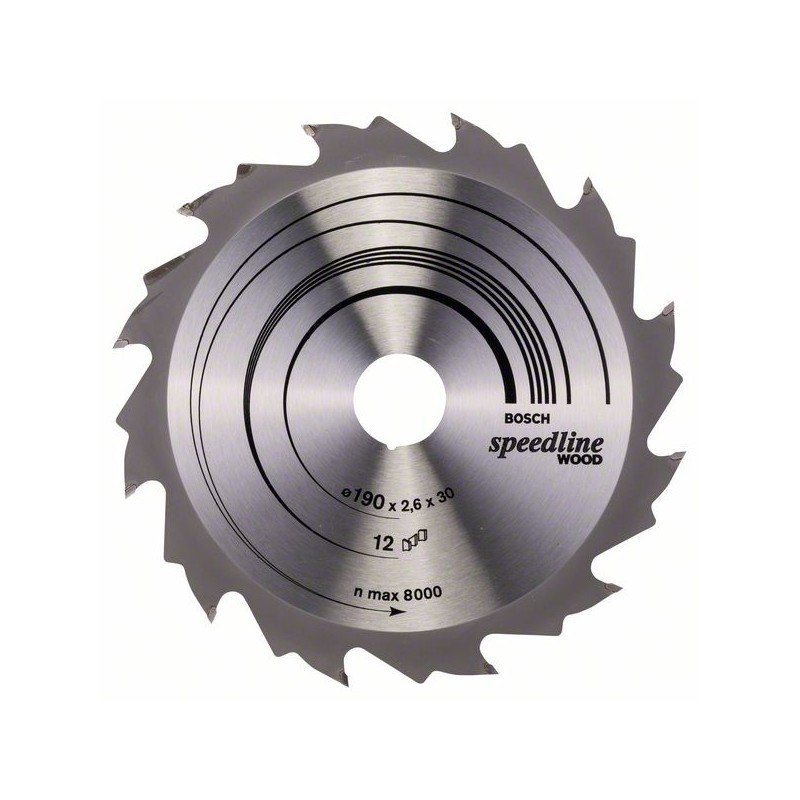 BOSCH-circular Saw Blade Speedline Wood 190x30x2,6mm 12