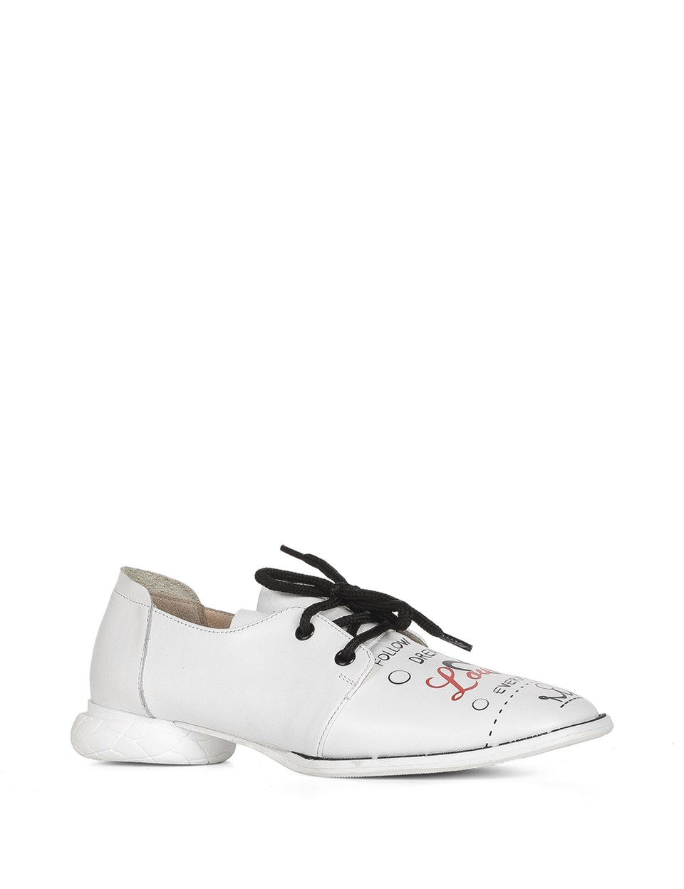 ILVi-Genuine Leather Handmade Pars Women's Oxford White Leather-Print Women Shoes 2020 Spring Summer (Made in turkey)