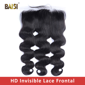 Image 2 - BAISI HD Lace Frontal Brazilian Straight Virgin Hair 13x4 Pre Pluck Hairline With Baby Hair Body Wave Transparent Lace Frontal