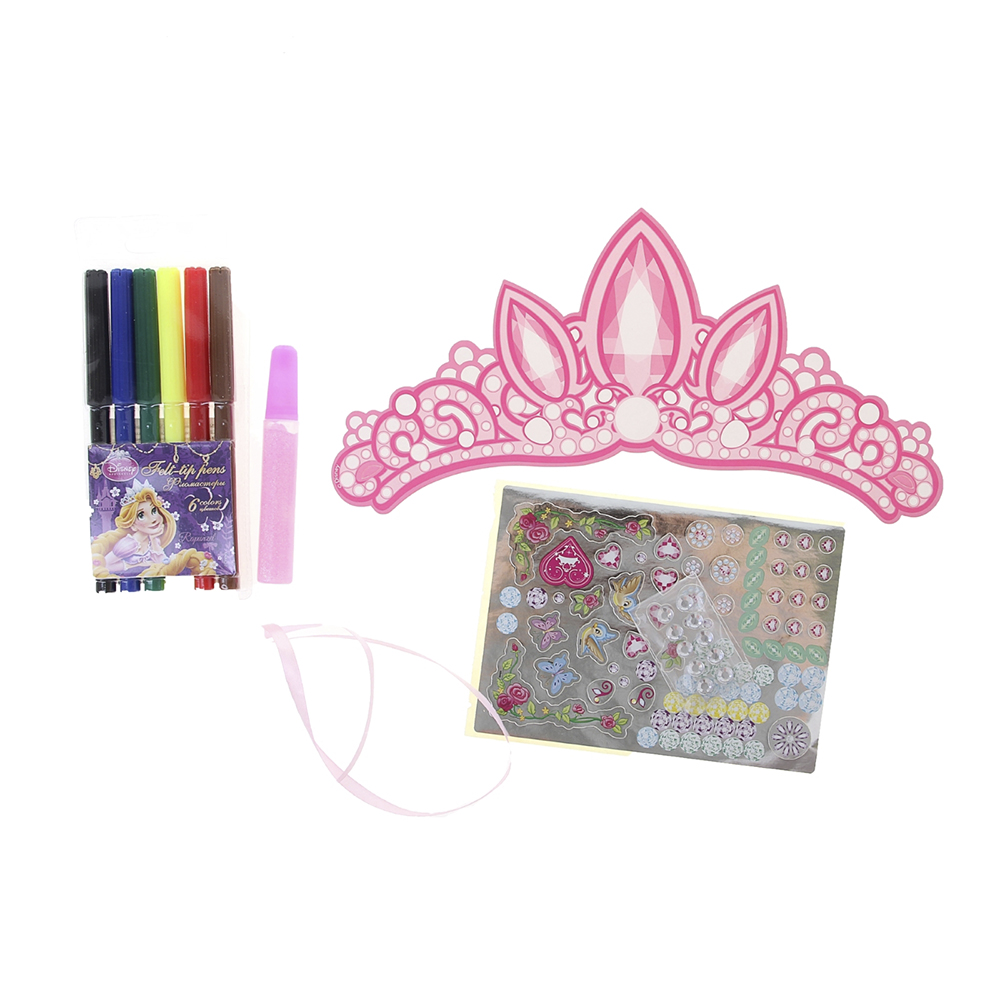 Set for children's creativity Disney Princess Crown-painting