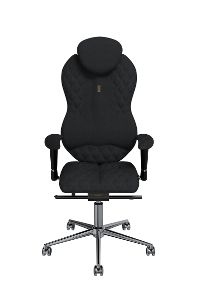 Office Chair KULIK SYSTEM GRAND Black Elite Ergonomic Chair High Quality Material New Technology Comfort