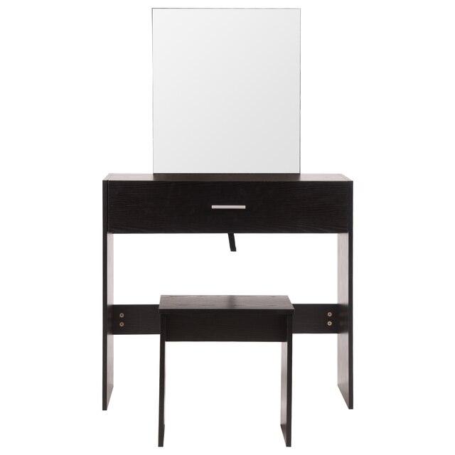 Фото 1 комплект белый туалетный столик с большим макияж зеркало спальня цена
