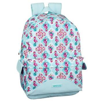 Computer backpack Moos Flamingo Turquoise 46cm