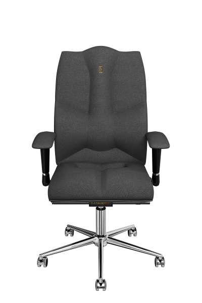 Office Chair KULIK SYSTEM BUSINESS Gray Computer Chair Relief And Comfort For The Back 5 Zones Control Spine