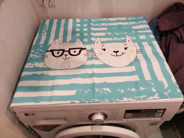 Capa p/ máquina de lavar roupa Cobertura Máquina Impressão