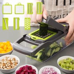 8In1Multifunctional Vegetable Cutter Potato Slicer Carrot Grater Kitchen Accessories Gadgets Steel Blade Kitchen Tool овощерезка