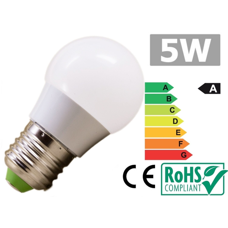 Led bulb E27 5W 6500k cold white e27 5w 450lm 6500k 5 led white light lamp bulb white silvery grey ac 85 265v