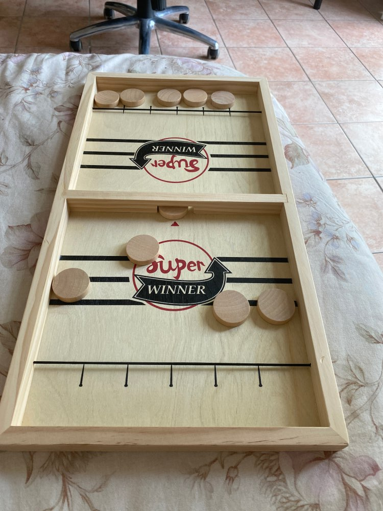 Funny Family Wooden Hockey Game photo review