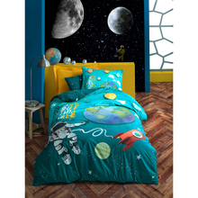 Bedspread Duvet-Cover-Set Sheet Pillowcase Turkey Room-Gift Cotton-Box Astronaut Girl's