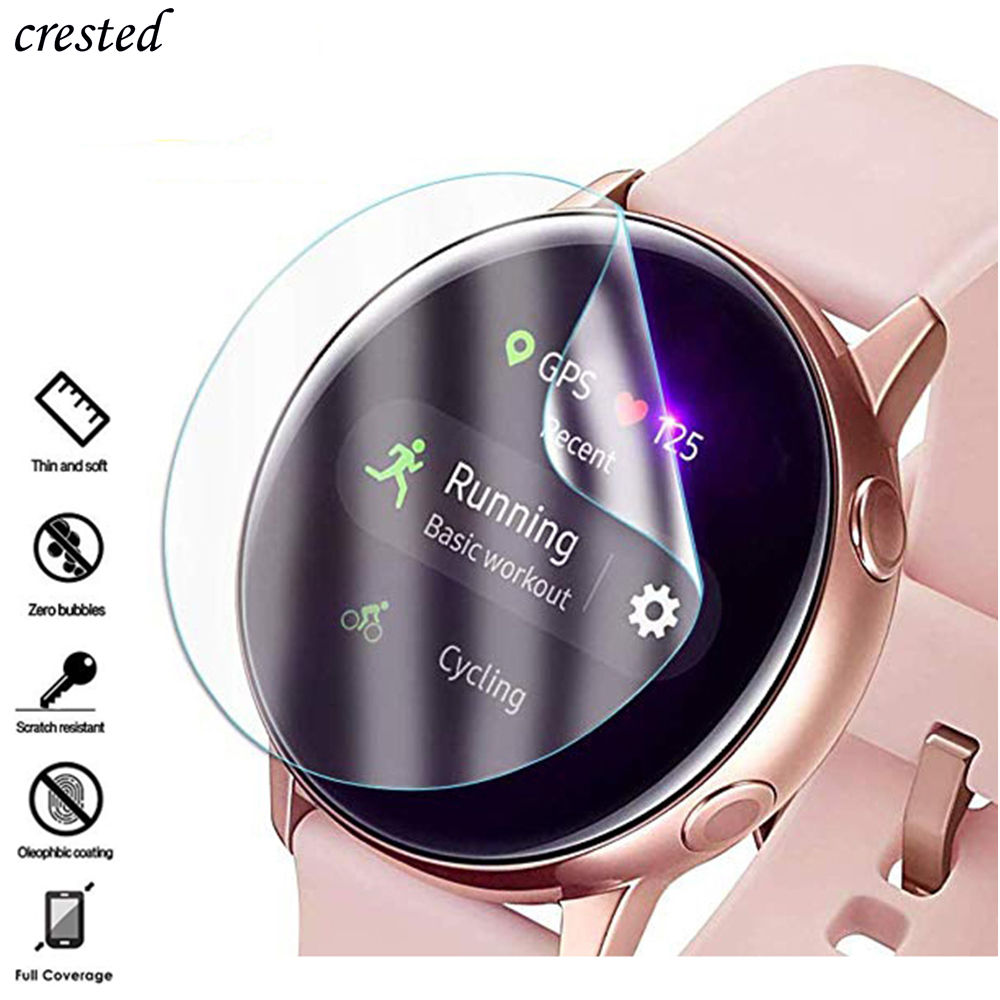 2Pc Screen Protector For Samsung Galaxy Watch Active2 Strap 3D HD Ultra-thin Full  (not Glass)  Galaxy Watch Active 2 44mm 40mm