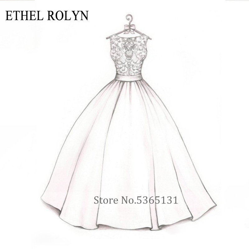 ETHEL ROLYN Personalized Customization Wedding Dress 2020 Custom Size Bride Dress Wedding Gowns African Vestido De Noiva