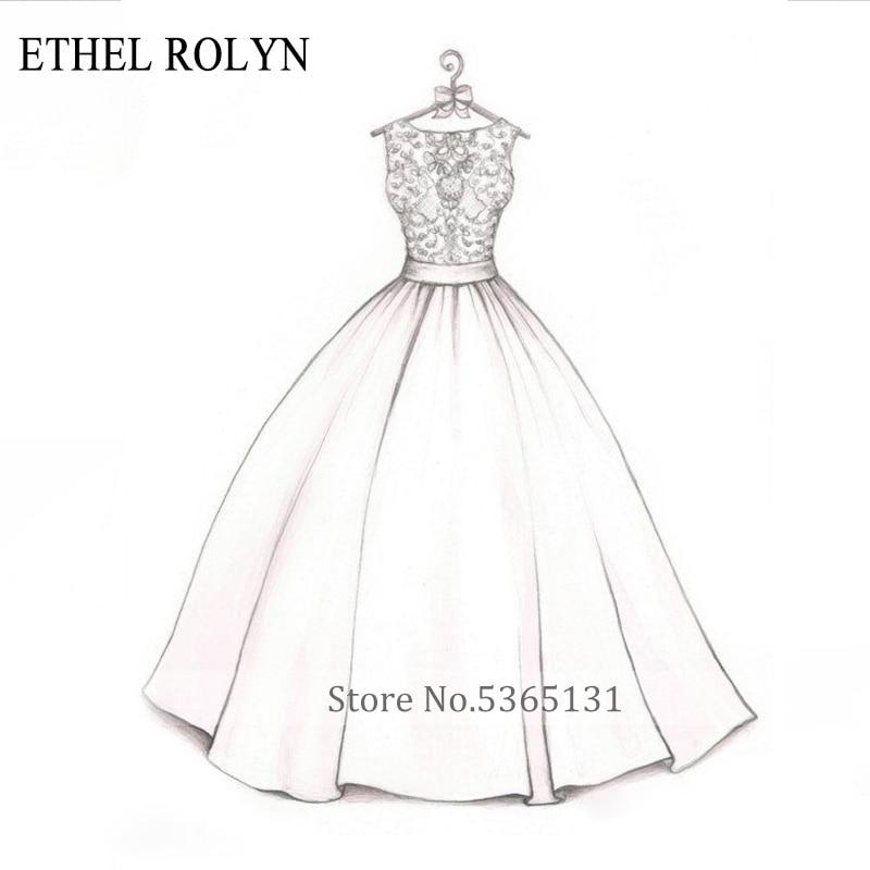 ETHEL ROLYN Personalized Customization Wedding Dress 2020 Custom Size Bride Dress Wedding Gowns African Vestido De Noiva