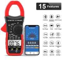 BTMETER Digitale Clamp Multimeter, Auto-Bluetooth Amp Meter, Widerstand, Temperatur, daten Halten für Elektrische HVAC Amperemeter
