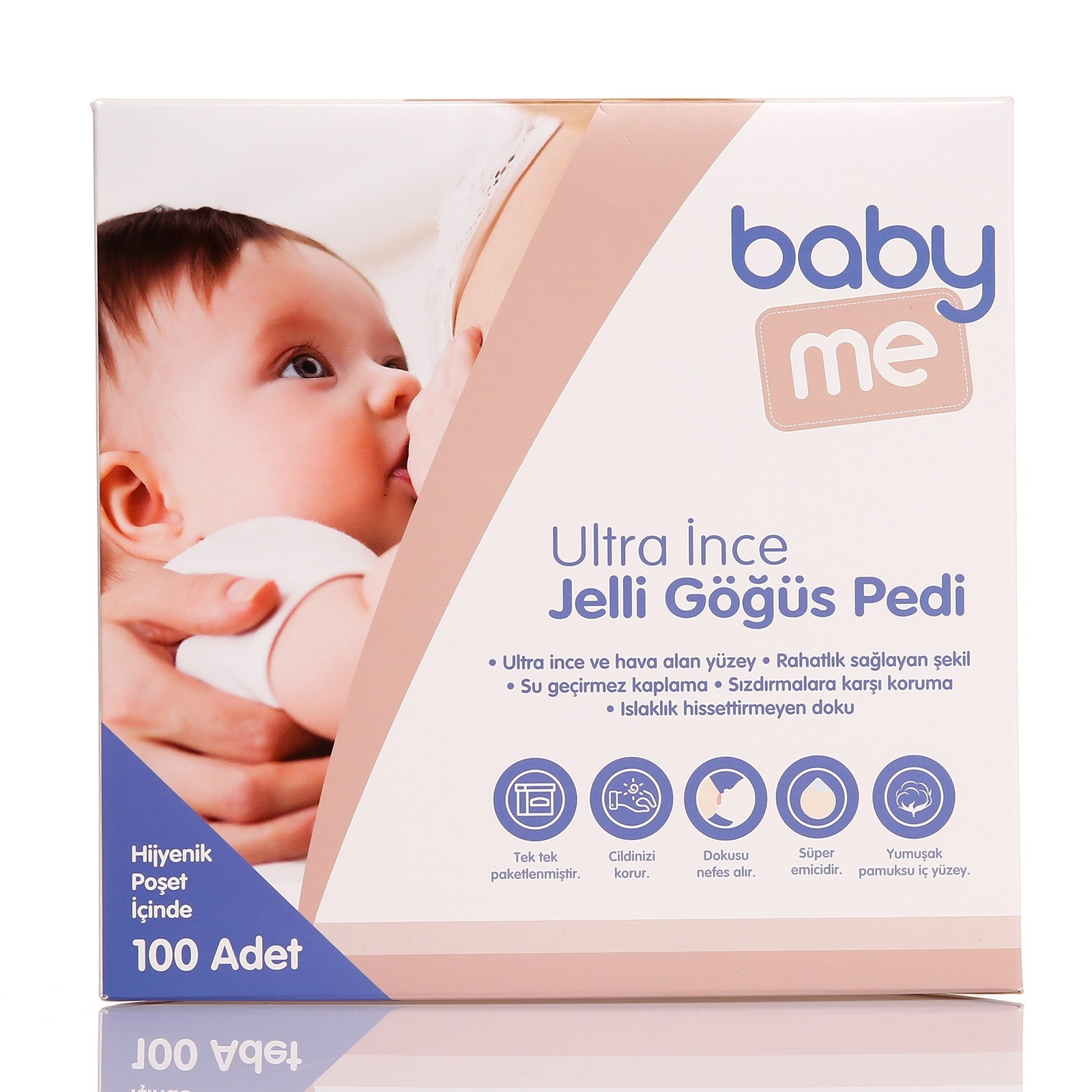Ebebek Baby Me Ultra Thin Gel Breast Pads 100 Pcs