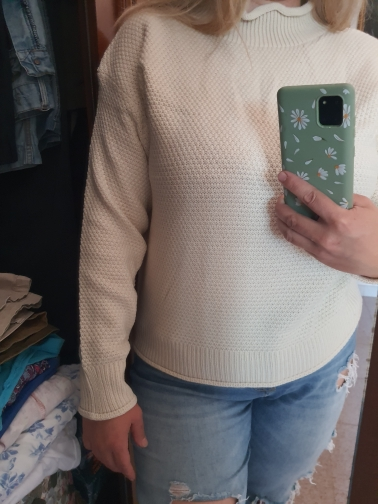 Thick Warm Turtleneck Pullover Sweaters (white One Size) photo review