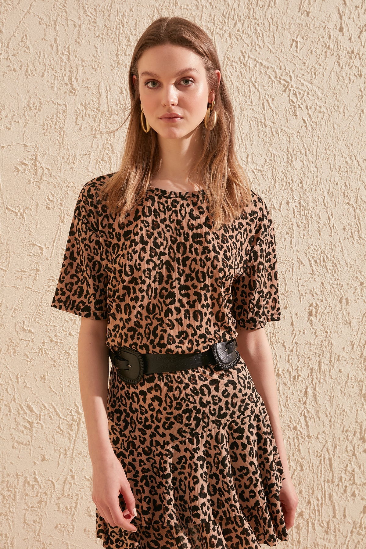Trendyol Leopard Pattern Knitted Blouse TWOSS20BZ0680