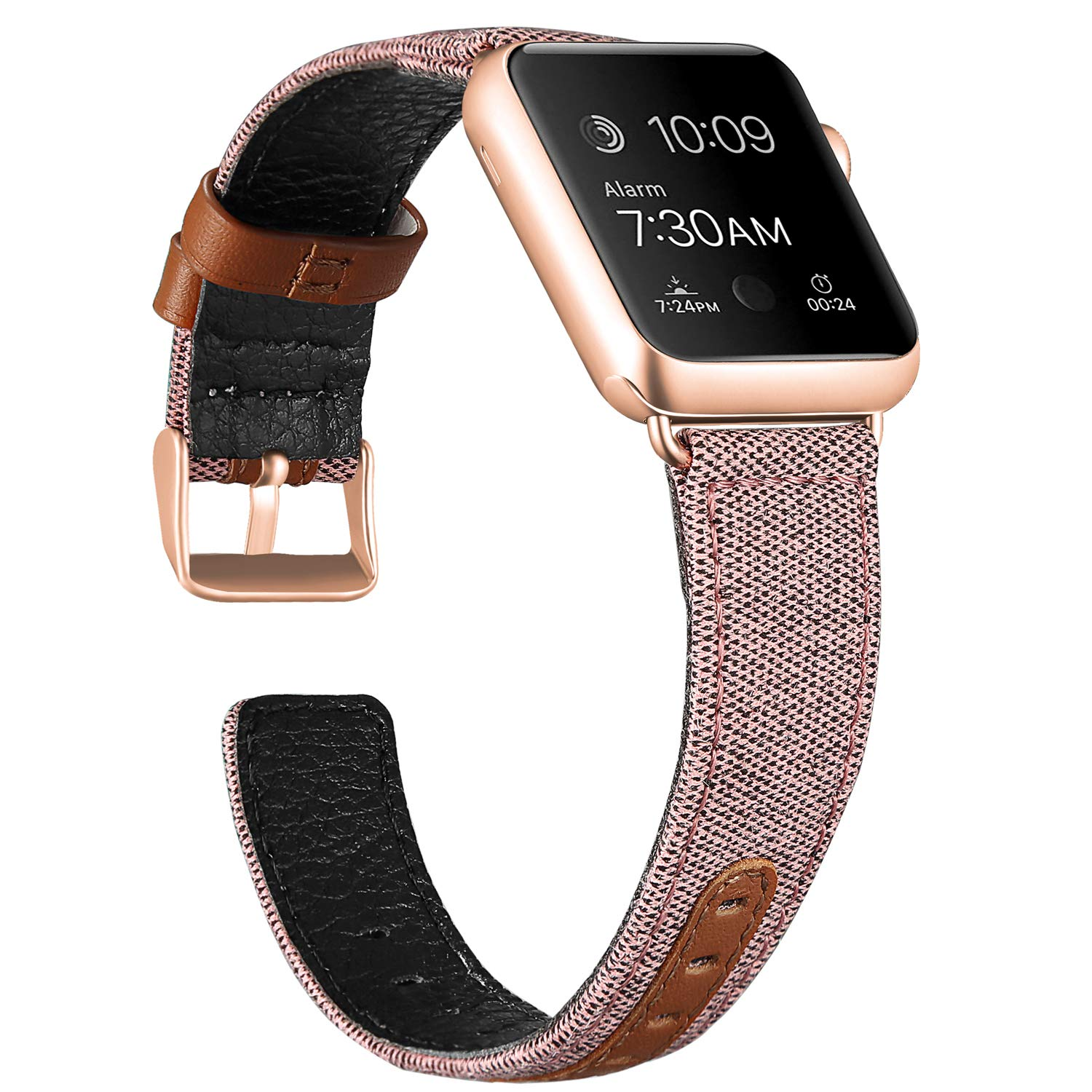 Canvas Leather Band for Apple Watch 24