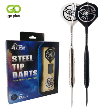 6pcs/Set Professional Darts 164mm 22g Steel Tip Darts With Aluminum Dart Bar Iron Dart Barrel Shaft Flight WIth Free Box darts steel dart arrows with metal tip dart flights with brass barrel