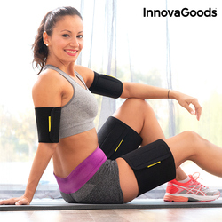 InnovaGoods Sauna-Effect Arm & Thigh Wraps (Pack of 4)