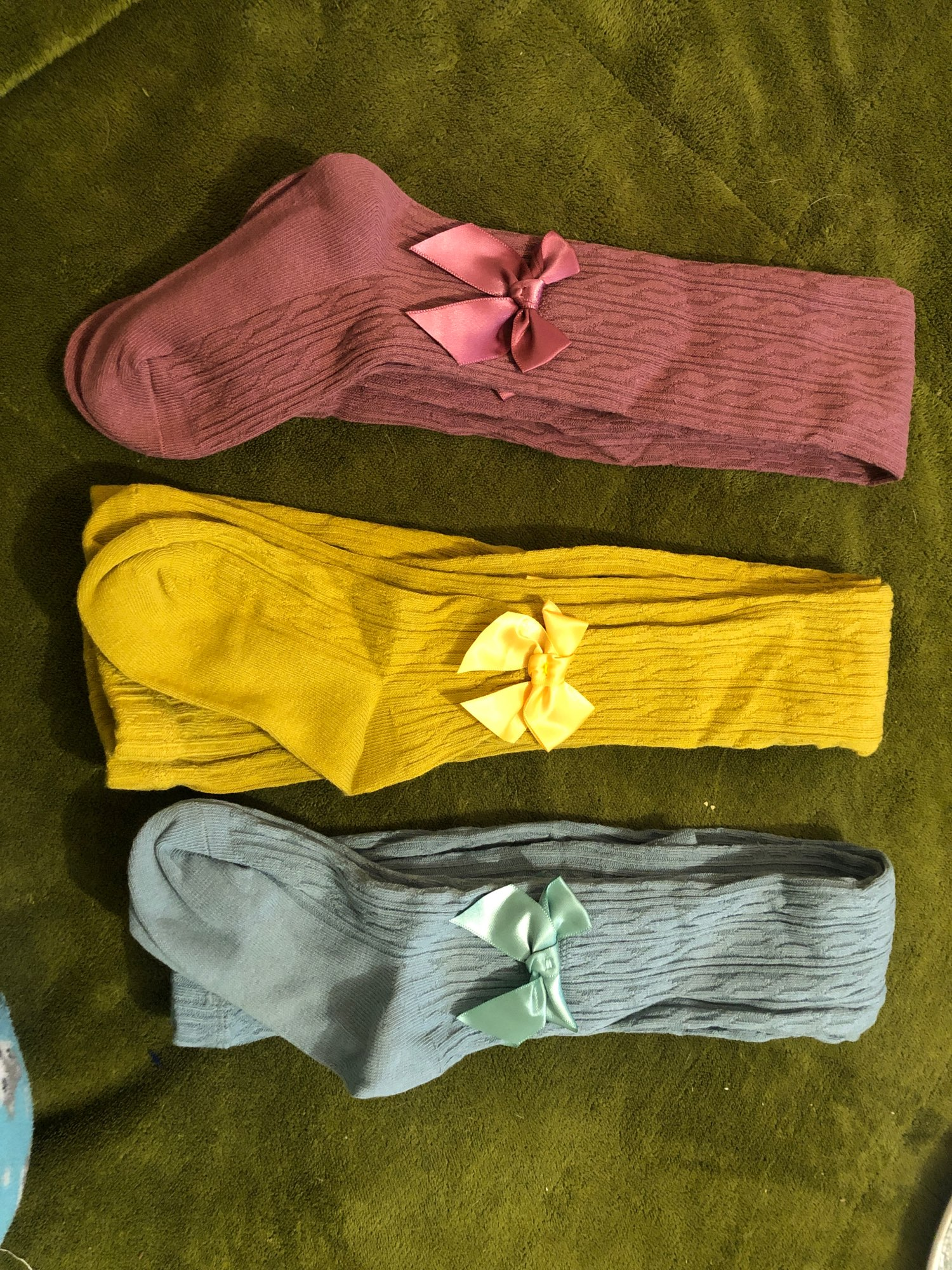1 to 10 Years 8 Colors Beautiful Bowknot Tights For Girls Autumn Winter Children's Pantyhose Knitted Kids Tights Cotton Pants photo review