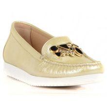 Zapatos de mujer informales de color Beige de FootCourt, mocasines Vintage Retro de venta al por mayor, mocasines ligeros para mujer hechos en Turquía