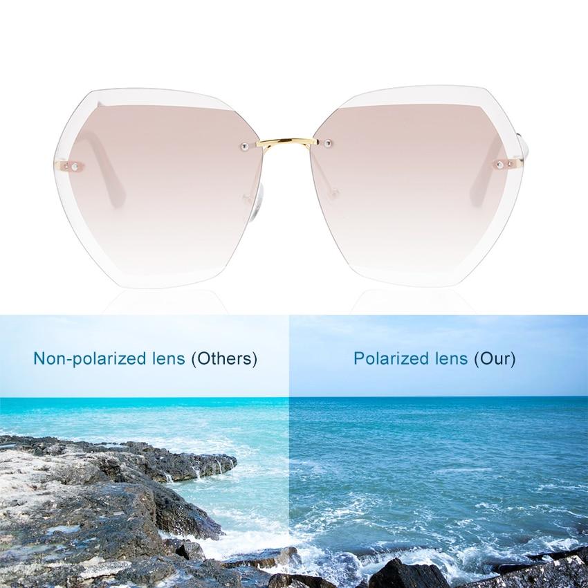 Cusoul Fashion Women Sunglasses Sunscreen Anti-UV Polarized Lens Vintage Eyewear Accessories Sun Glasses for Women