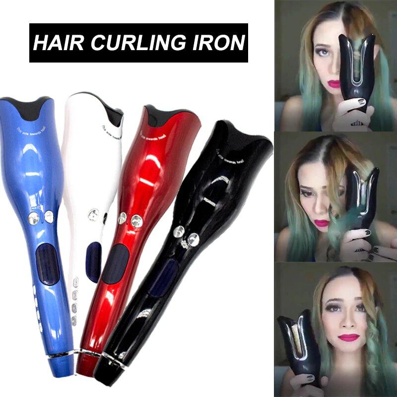 Rizador de pelo y giro de aire profesional de 1 pulgada, rizador eléctrico de cerámica giratorio de aire, rizador automático de rizos, todos los tipos de cabello|Rizadores|   - AliExpress