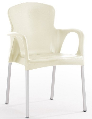 Armchair SEINE Stackable Polypropylene Beige *