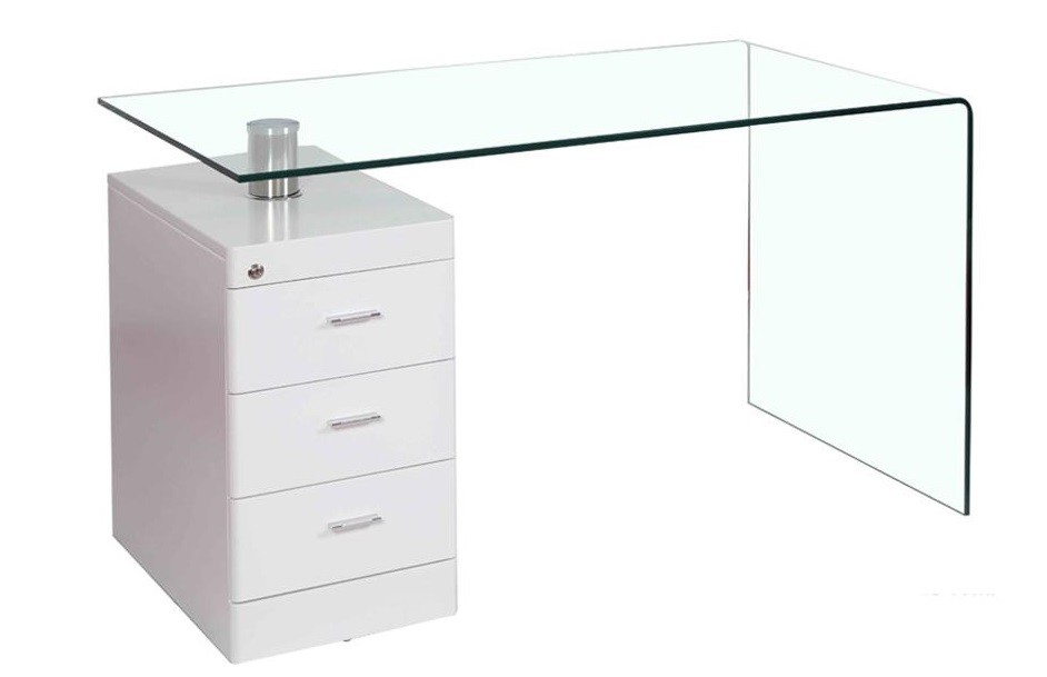 Table MUGWORT, Curved, Drawer Cabinet, 125x65 Cms