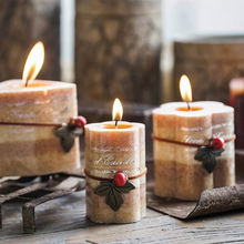 OM HOME scented candles smoke-free handmade flower-shaped/triangular