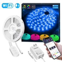 APP Waterproof 16.4ft RGB LED Light Strip WiFi Sync with Music, 16 Million Color