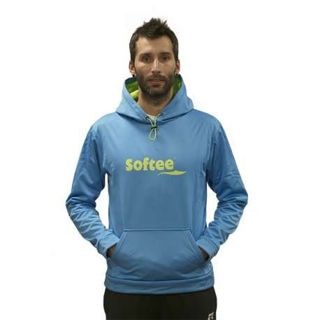 SUDADERA SOFTSHELL CON CAPUCHA SOFTEE - TALLA 12 - COLOR ROYAL Y LIMA