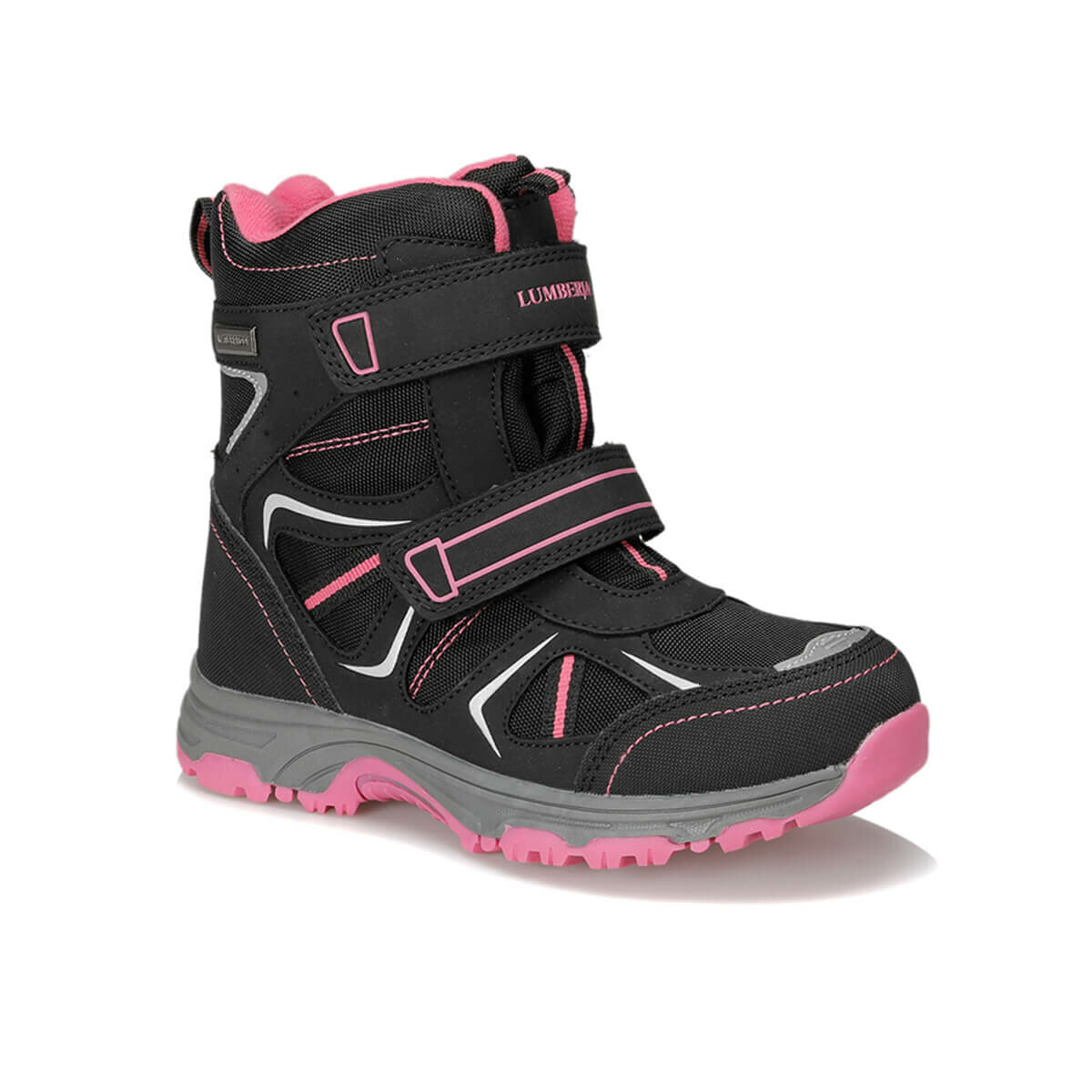 FLO LIGHT 9PR Black Girls Child Outdoors Boots LUMBERJACK