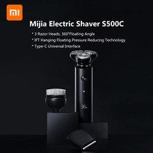 الأصلي شاومي Mijia S300 S500 S500C ماكينة حلاقة كهربائية IPX7 مقاوم للماء شفرة مزدوجة مع رئيس شاومي ماكينة حلاقة