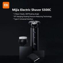 オリジナルxiaomi mijia S300 S500 S500C電気シェーバーIPX7 防水ダブルブレードとヘッドxiaomiシェーバー
