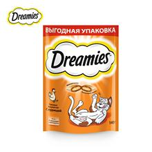 Лакомство для кошек Dreamies подушечки с курицей, 140г
