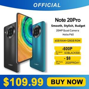 Cubot Note 20 Pro Quad Camera смартфон Четыре камера 6 Гб + 128ГБ NFC телефон 6,5 дюйма 4200 мАч Большая Батарея новая Android 10 система две sim-карты мобильные телефо...